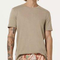 Camiseta Básica Mangas Curtas World - Cinza