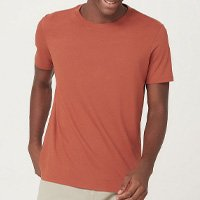 Camiseta Básica Mangas Curtas World - Laranja Médio