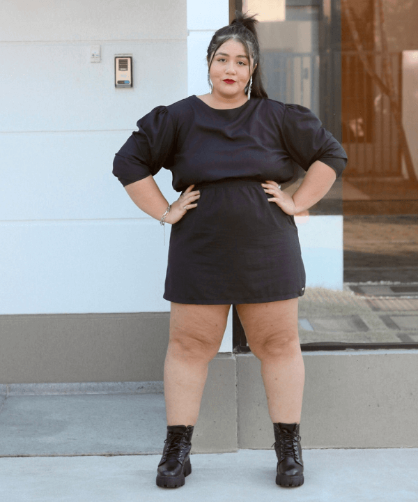 Layla Brigido - Look all black - lojas plus size - Inverno  - Steal the Look  - https://stealthelook.com.br
