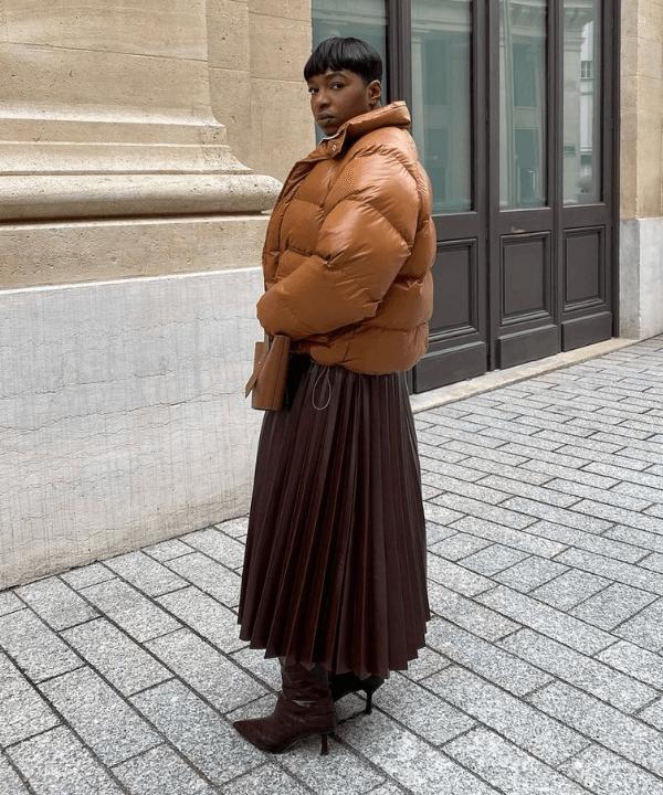 Loïcka Grâce - looks com saia - looks com saia - Inverno  - Steal the Look  - https://stealthelook.com.br
