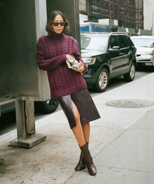 Aimee Song - looks com saia - looks com saia - Inverno  - Steal the Look  - https://stealthelook.com.br