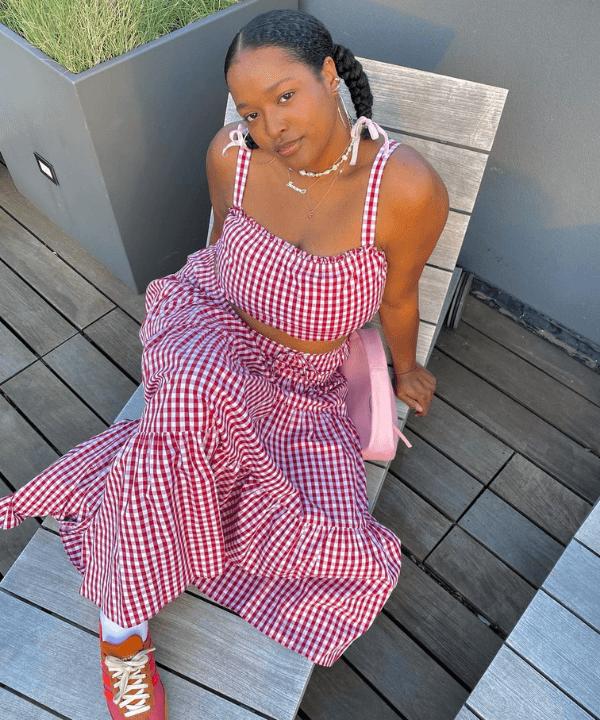 Imani Randolph - Looks de verão - como usar vichy - Verão - Steal the Look  - https://stealthelook.com.br