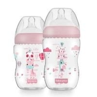 Kit 2 Mamadeiras First Moments Rosa 270/330ml Fisher Price