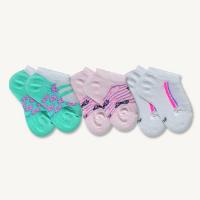 Kit 3 Pares de Meias Sapatilha Bebê Sene Estampadas Rosa, Lilás e Verde 0 à 8 meses - Meias Sene