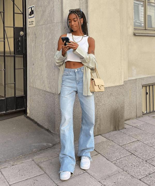 Amaka Hameliknck - Calça Jeans - modelos de calças jeans - Verão - Steal the Look  - https://stealthelook.com.br
