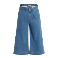 bonprix - Calça Jeans Pantacourt Azul Médio