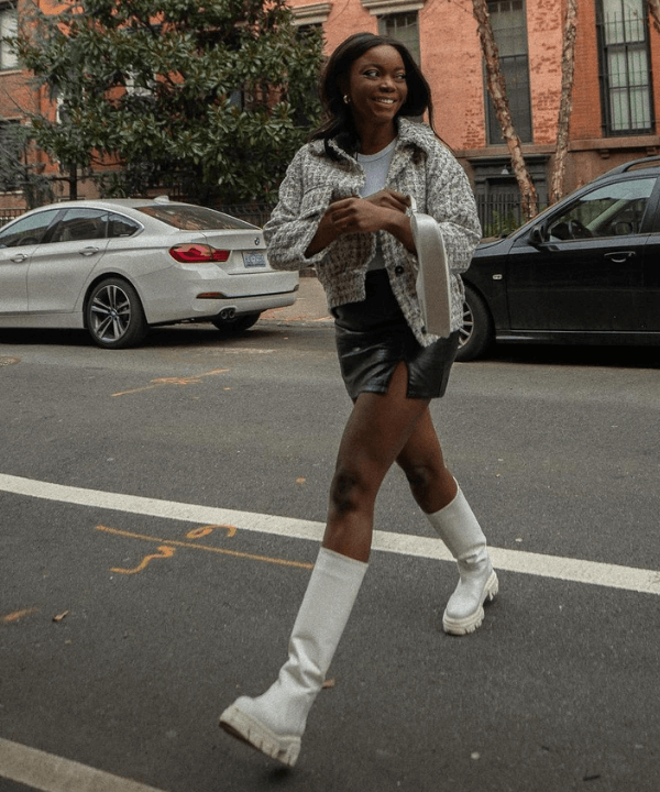 Coco Bassey - Street Style - bota branca - Inverno  - Steal the Look  - https://stealthelook.com.br