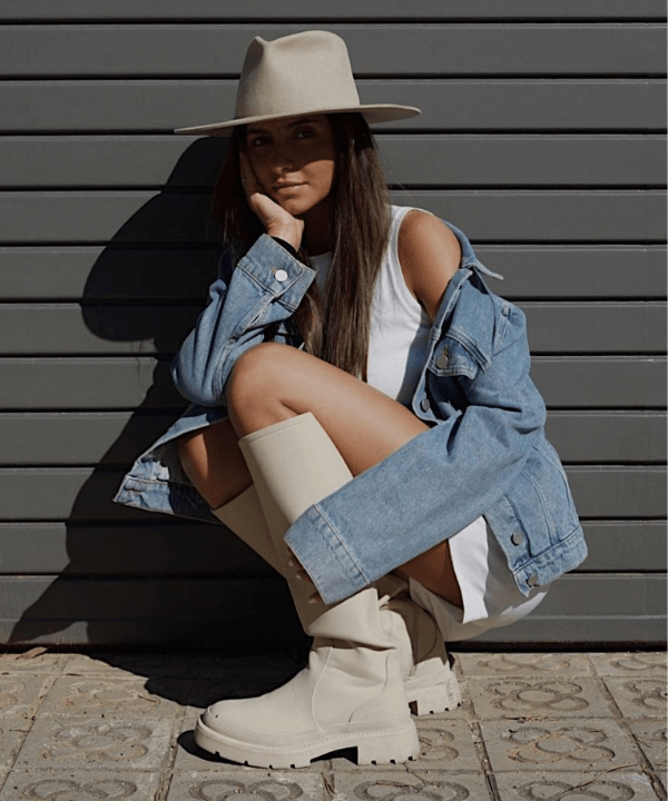 Andrea Benhamou - Street Style - bota branca - Inverno  - Steal the Look  - https://stealthelook.com.br