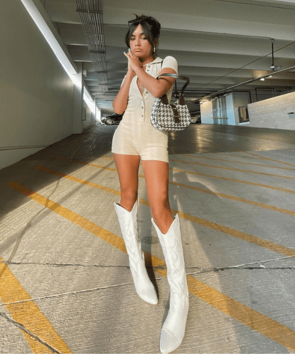 Luisa Piou - Look monocromático  - como usar botas western - Verão - Steal the Look  - https://stealthelook.com.br
