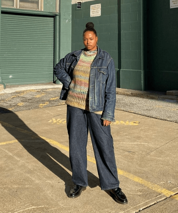 Imani Randolph - Street Style - wide leg - Inverno  - Steal the Look  - https://stealthelook.com.br