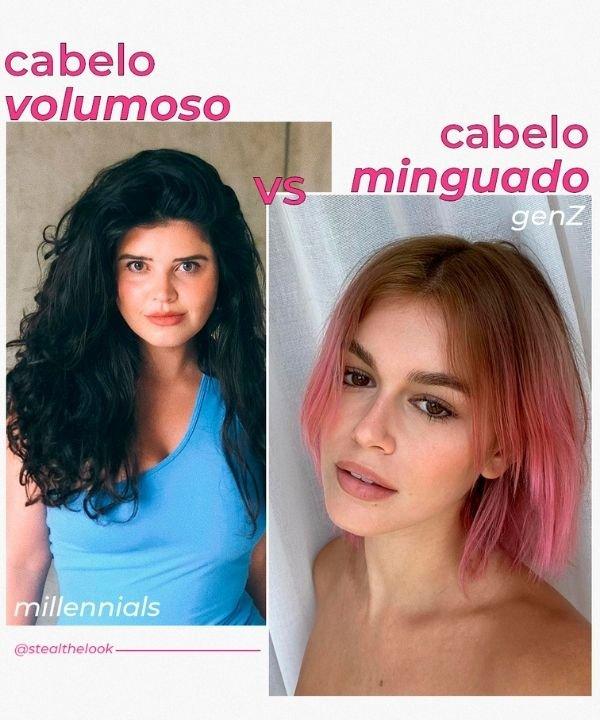cabelo volumoso - cabelo minguado  - tendências de beleza  - geração millennials - geração Z - https://stealthelook.com.br