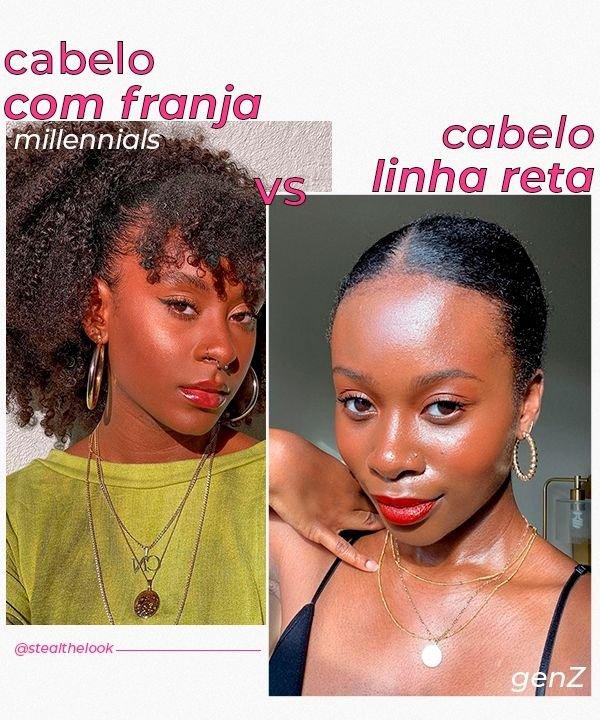 Cabelo com franja  - cabelo com linhas retas  - tendências de beleza  - Millennials  - geração Z - https://stealthelook.com.br