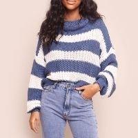 tricô listrado azul gia mundo lolita