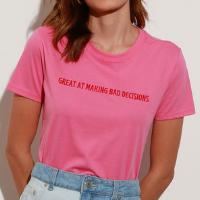 t-shirt de algodão com bordado \
