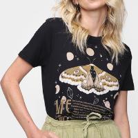 Camiseta Dzarm Fox Feminina - Preto
