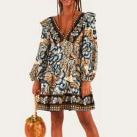 vestido curto danca dos pavoes