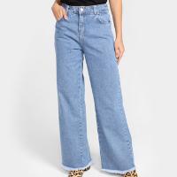Calça Jeans Sawary Wide Leg Feminina - Azul Claro