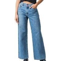 Calça Wide Leg Disparate Feminina Jeans Conforto Estilo Leve - Azul
