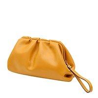 Bolsa Couro Mariart Carteira Clutch Mini Mari Feminina - Amarelo Escuro