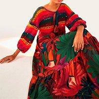 vestido com crochet flor animal