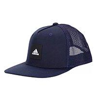 Boné Adidas Aba Curva Snapback Trucker - Marinho+Preto