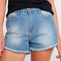 Shorts Jeans Polo Wear Barra Desfiada Feminina - Jeans