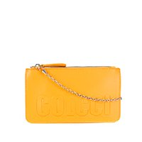 Bolsa Colcci Mini Bag Logo Alça Corrente Feminina - Amarelo