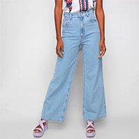Calça Jeans Lança Perfume Wide Leg Feminina - Azul