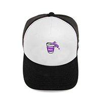 boné trucker purple juice branco skull clothing - único
