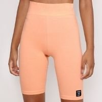 bermuda ciclista cintura alta laranja