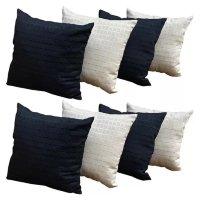 Almofadas Decorativas 8 Unidades Com Ziper e Refil de Silicone - RT