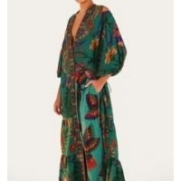 vestido kimono tapeçaria tropical