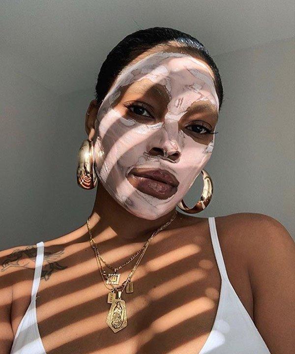 máscara de argila  - face mask  - tipos de máscaras faciais  - máscara facial  - selfie care  - https://stealthelook.com.br