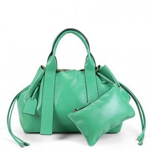 Bolsa Couro Shoestock Tote Desestruturada Feminina - Feminino - Verde