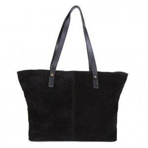Bolsa Couro Shoestock Soft Shopper Feminina - Feminino - Preto