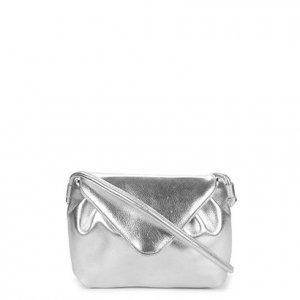 Bolsa Shoestock Flap Soft Glam Feminina - Feminino - Prata
