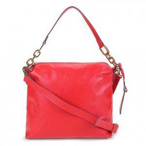 Bolsa Couro Shoestock Soft Bag Corrente Feminina - Feminino - Vermelho