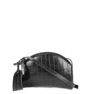 Bolsa Couro Shoestock Estela Crossbody Feminina - Feminino - Preto