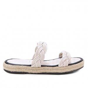 Rasteira Shoestock Corda Handmade - Feminino - Off White