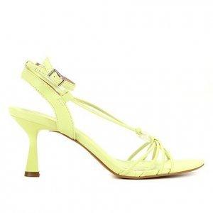 Sandália Shoestock Amarração Esfera Salto Médio Feminina - Feminino - Verde Claro