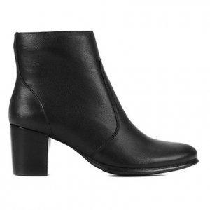 Bota Couro Shoestock Salto Bloco Feminina - Feminino - Preto