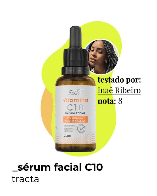 Tracta c10  - cuidados com o rosto  - séruns faciais  - melhor sérum facial  - vitamina C  - https://stealthelook.com.br