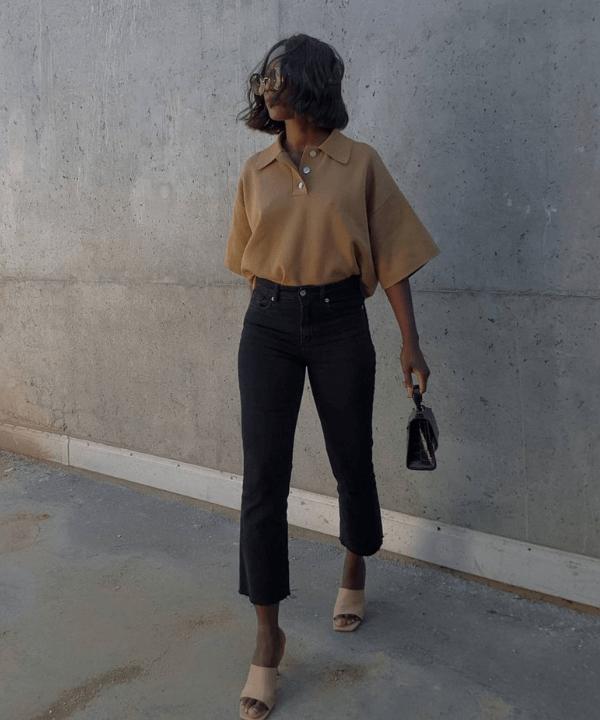 Aïda Badji Sané - Street Style - gola polo - Verão - Steal the Look  - https://stealthelook.com.br