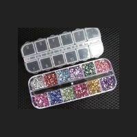 Glitter Strass Para Unhas 1,5mm Redondo 3000u 12 Cores