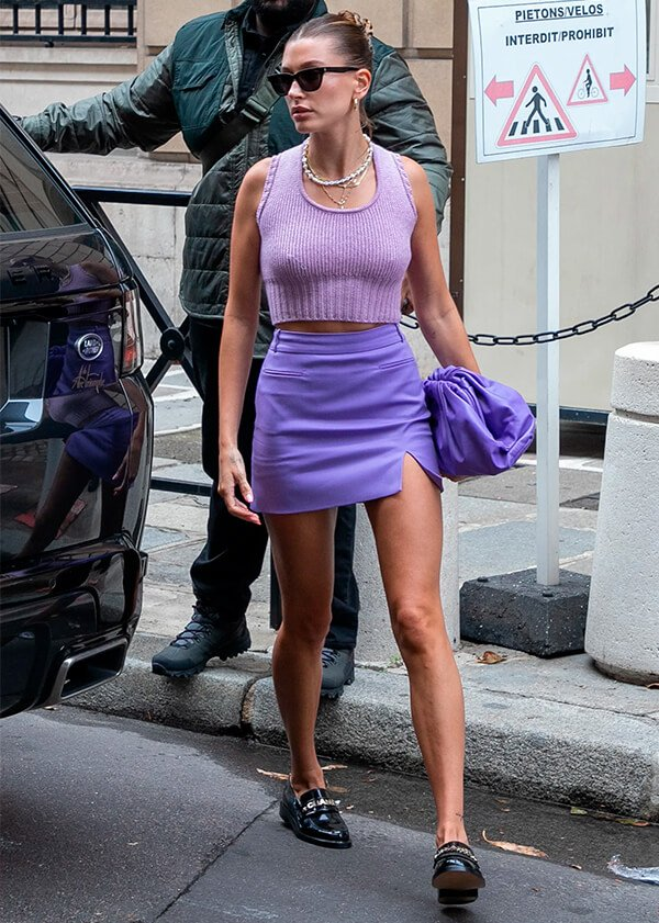 Hailey Bieber - tendências de moda - tendências de moda - Inverno - Street Style - https://stealthelook.com.br