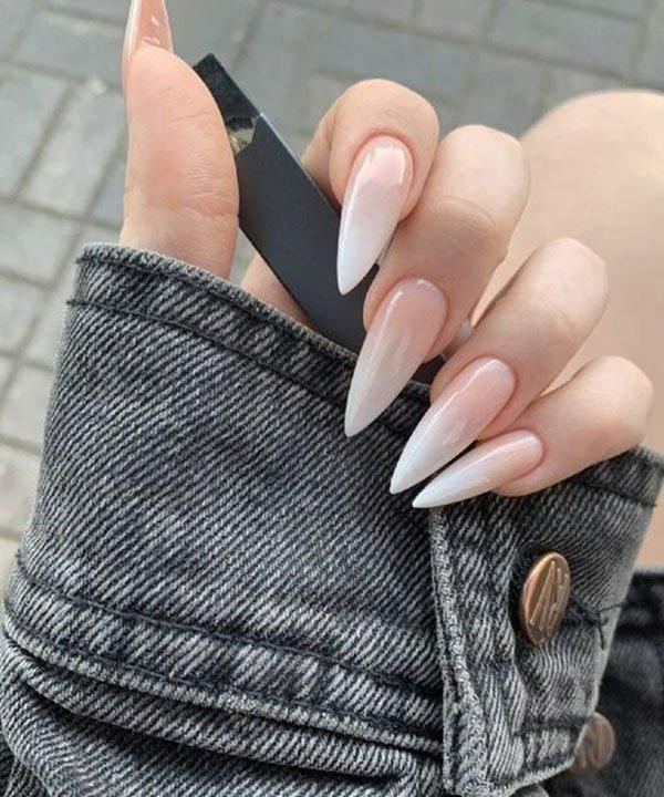 unhas baby boomer  - baby boomer clássica  - tendência de francesinha  - nova tendência de nail art  - francesinha ombré  - https://stealthelook.com.br