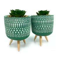 Kit 2 Mini Vasos Cachepot Tripé Planta