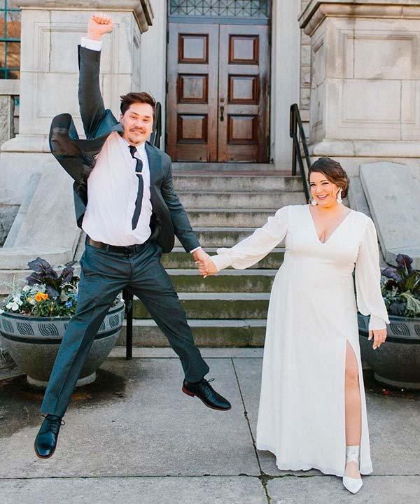 Lindsay Henning - casamento - vestido de noiva com manga longa - inverno  - brasil - https://stealthelook.com.br