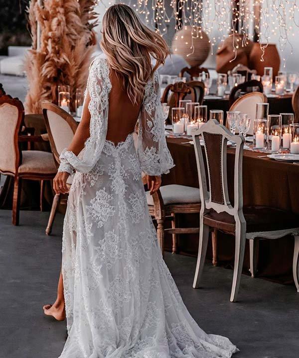 Marie - casamento - vestido de noiva com manga longa - inverno  - brasil - https://stealthelook.com.br