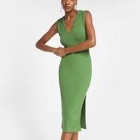 Vestido Canelado Forum Fenda Feminino - Verde